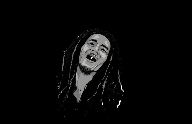 Bob Marley smiling