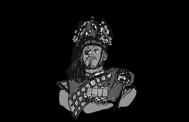 man in royal military uniform