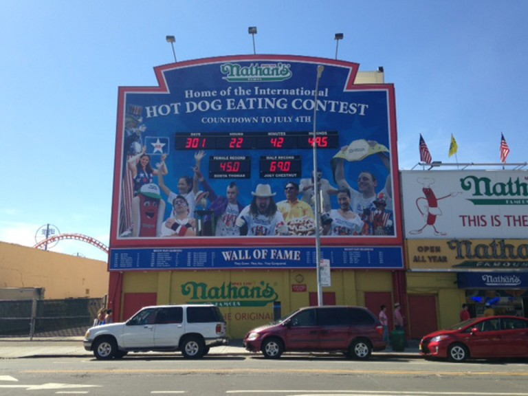 hot dog eating contest sign