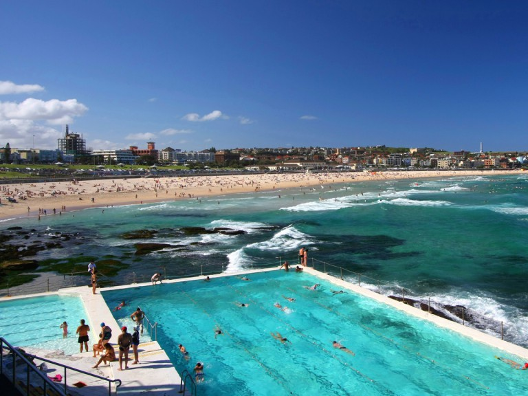 beach and pool in Bondi