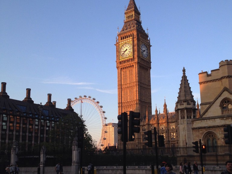 Big Ben clock tower in London