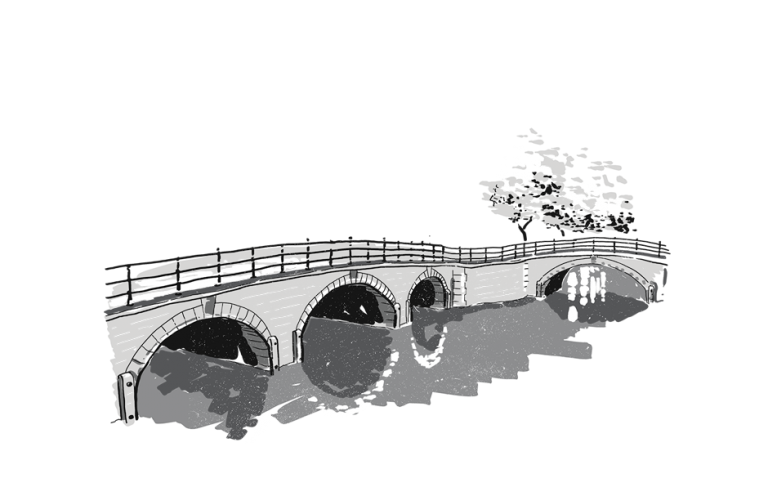 Amsterdam bridge crossing canal
