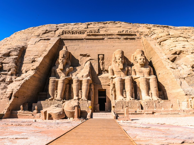 enormous Egyptian rock temple