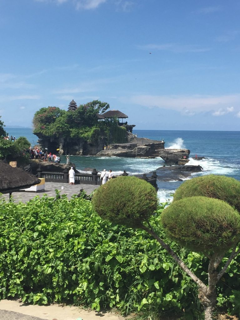 Tanah Lot temple rock formation in Bali