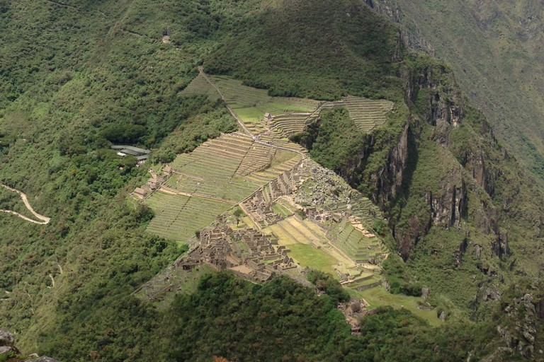 Machu Picchu citadel on mountain in Peru