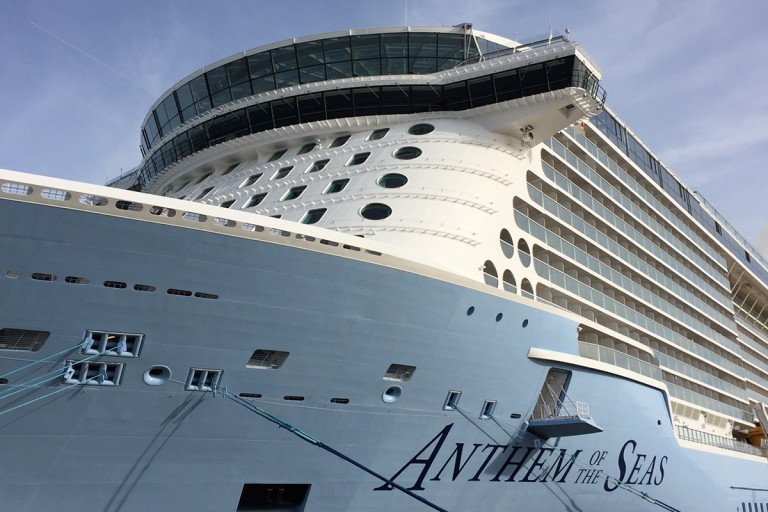 up close photo of cruise ship